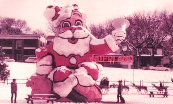 The Parks Department tweeted us this groovy photo from about 1968. Its Gillham Park all dressed up for Christmas. Were you there?