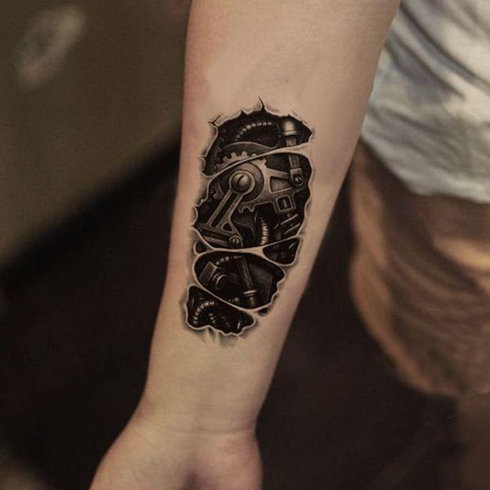 Unterarm Erstes Tattoo Ideen Männer | 2021 | Biomechanik