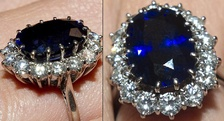 Princess Diana's Sapphire Engagement Ring now also Kate Middleton Wales, Duchess of Cambridge's engagement ring.