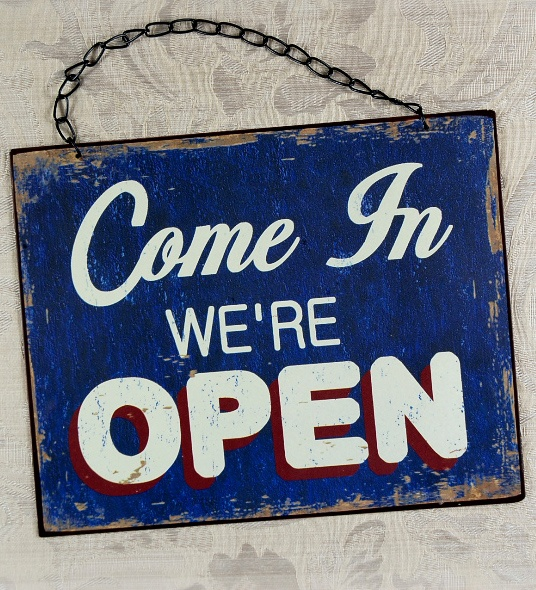 We 39 re open sorry we are closed 8x10 sign 7 studio for 8x10 office design