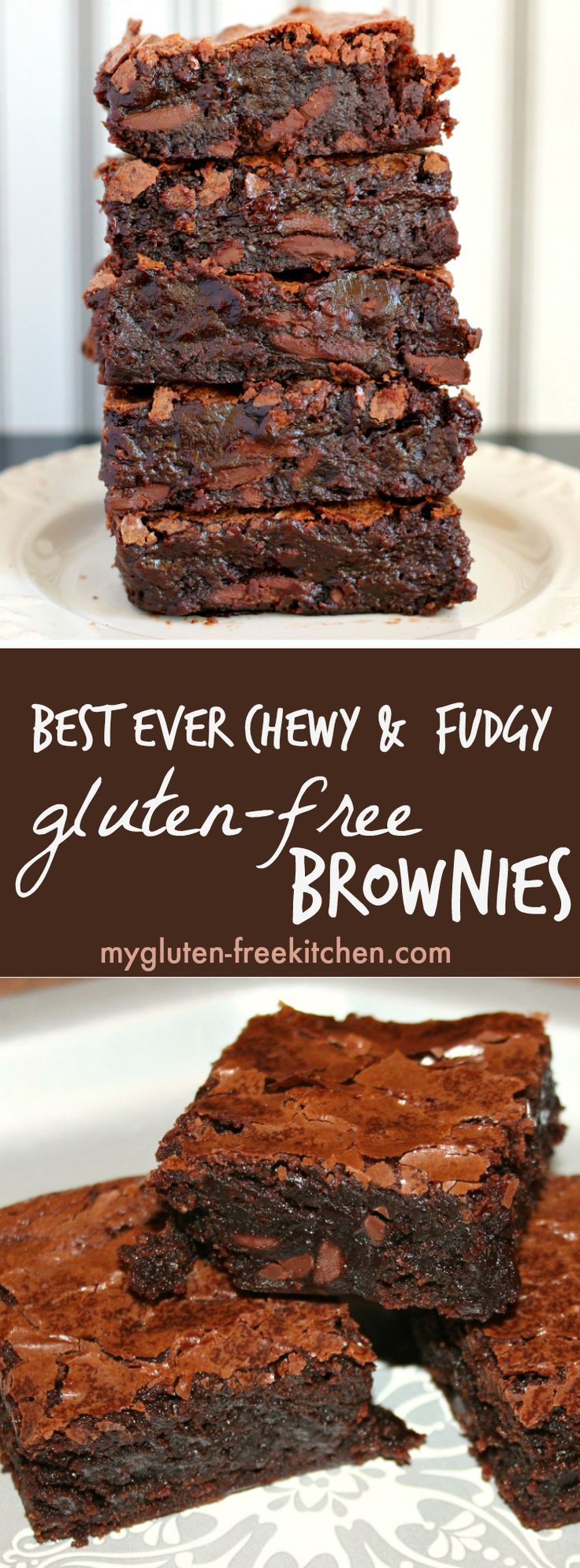 Best Ever Chewy & Fudgy Gluten-free Brownies Recipe. So easy to make too!(Paleo Recipes Easy)