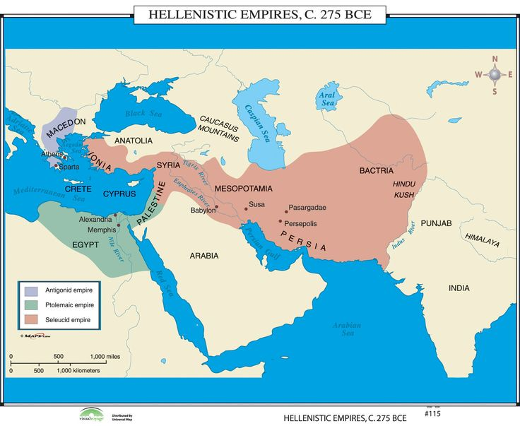 world history wall maps hellenistic empires