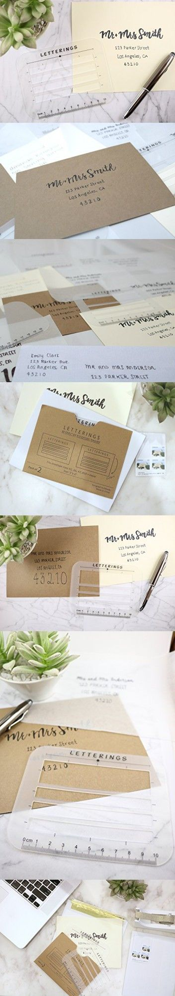 Envelope and Address Stencil Ruler Guide and