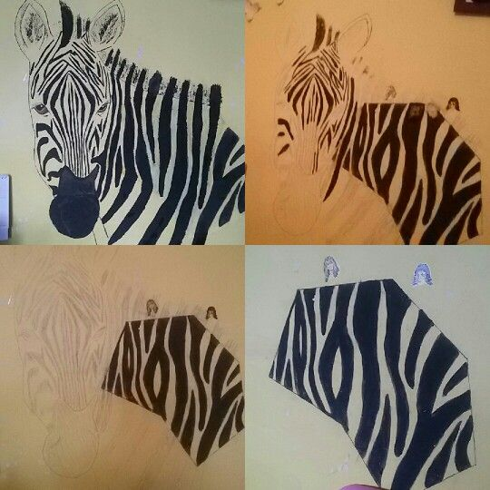 Zebra desing on wall