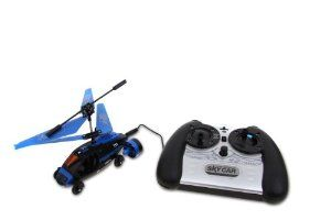 KJB Security RC Helicopter Sky Car: Car & Helicopter by KJB Security. $58.03. Dual function modes - drive or fly. 3-directional movement. Features gyro technology with inbuilt auto-stability system. Controller requires 6 x AA batteries (not included). RC LED indicator will glow green when the Sky Car is charging before turning red when the charge is complete. Charges via remote control. The ingenious Gyro Sky Car takes remote controlled fun to new heights - quite li...