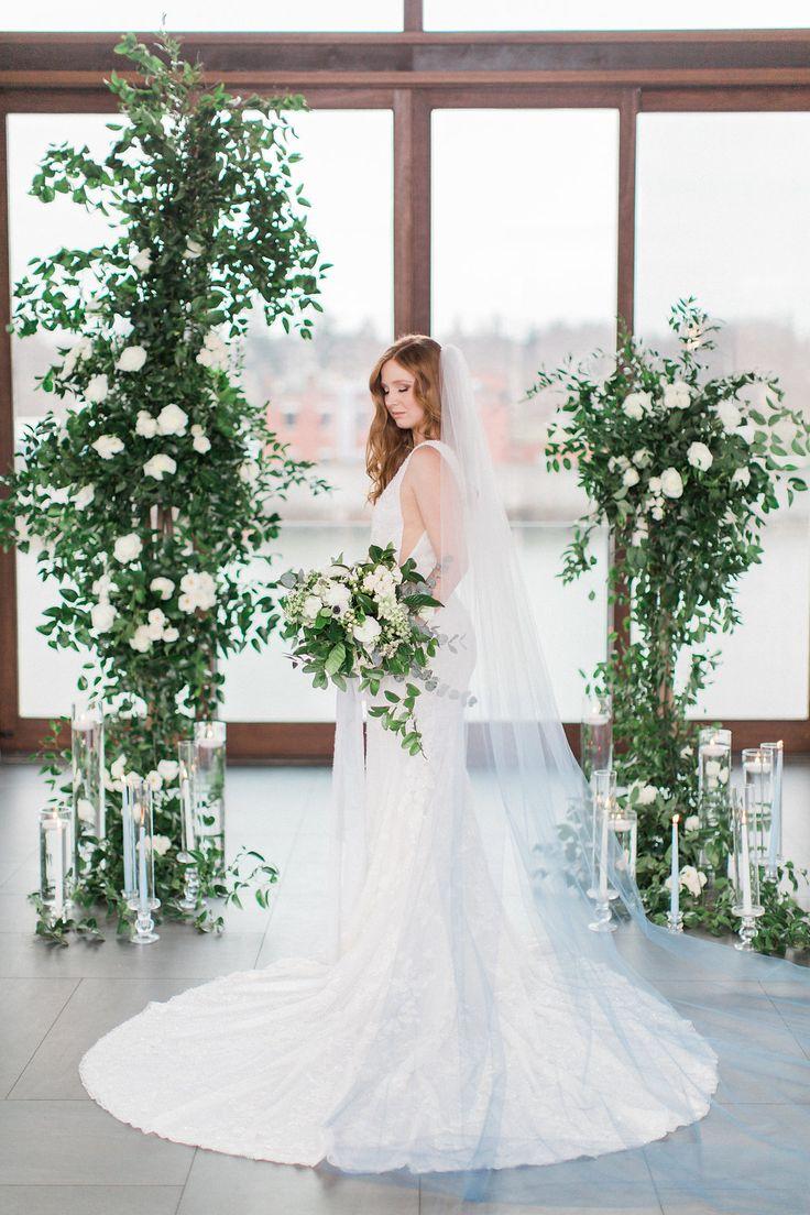 Blue wedding inspiration. #blueveil  https://www.confettiand.co/single-post/2018/01/08/Cambridge-Mill-Wedding-Inspiration