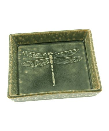 Look what I found on #zulily! Ash Green Square Dragonfly Sushi Plate #zulilyfinds