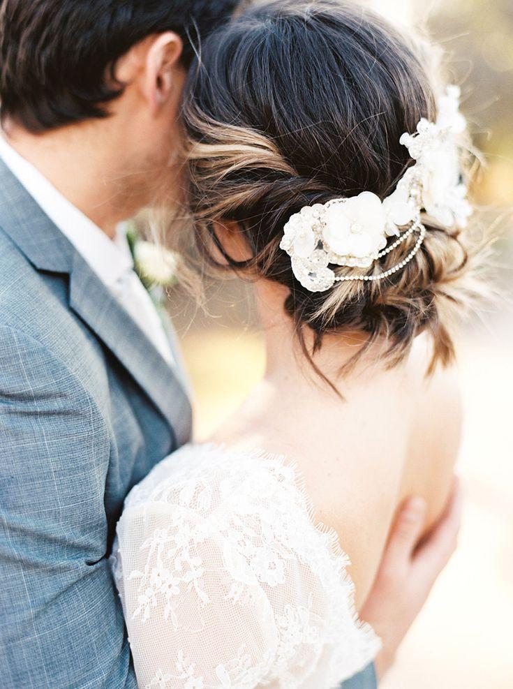 Vintage Bridal Headpiece for a Romantic Updo
