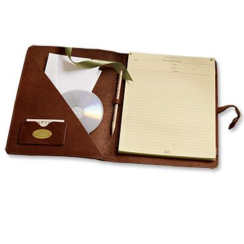Leather Portfolio. Can be embossed to personalize