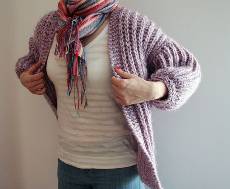 Lavender jacket - free knitting pattern - Pickles