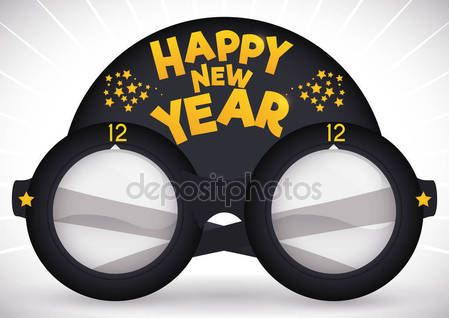Creative Design of Party Goggles for New Year Celebration