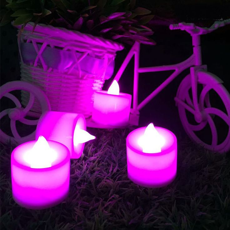 Candle Lamp LED Night Lights - Realistic Tea Candles For Party Bar
