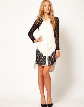 ASOS Shirt Dress With Lace Panels- http://us.asos.com/ASOS-Shirt-Dress-With-Lace-Panels/yna4l/?iid=2308371=15801=53=0=1=20=-1=Cream=L0FTT1MvQVNPUy1TaGlydC1EcmVzcy1XaXRoLUxhY2UtUGFuZWxzL1Byb2Qv#