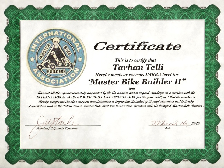 """TT became a """"Master Bike Builder"""" two years ago..."""