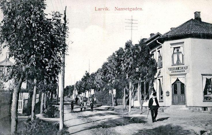 Vestfold fylke Larvik Nansetgaten Nanset meieri tidlig 1900-tall Utg Narvesen