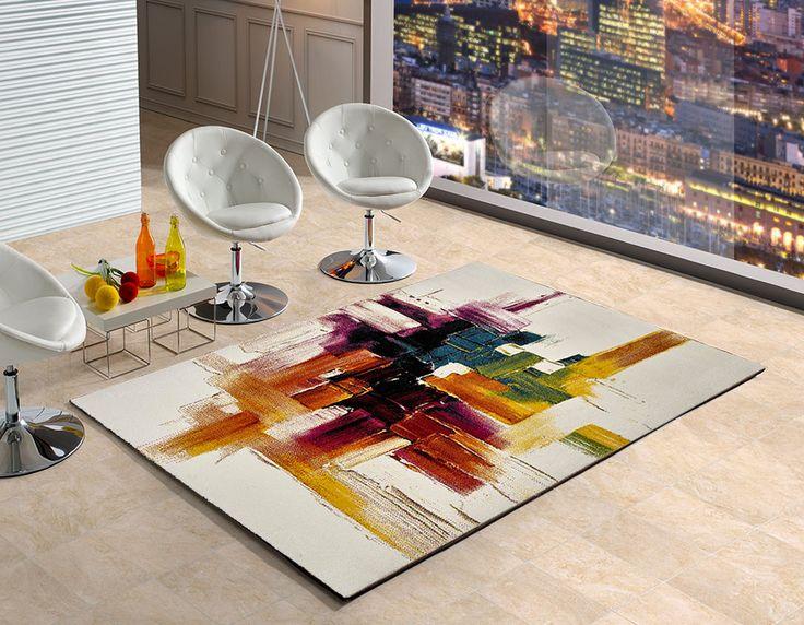 Alfombra Belis 20752 Universal XXI, alfombra de estilo moderno con un elegantísimo diseño de estilo abstracto que fácilmente se convertirá en el centro de atención de cualquier estancia que decore.