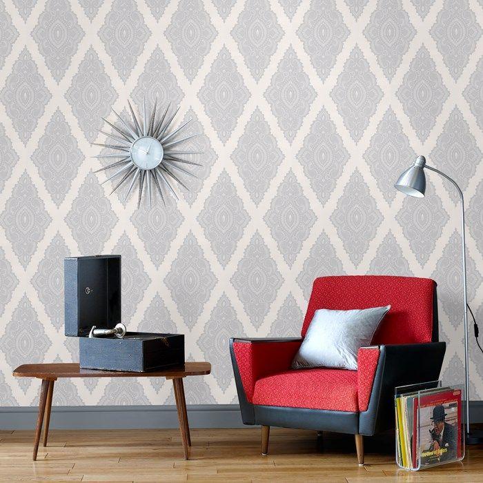 Jewel Wallpaper by Julien MacDonald - Gray Geometric Wall Coverings by Graham  Brown