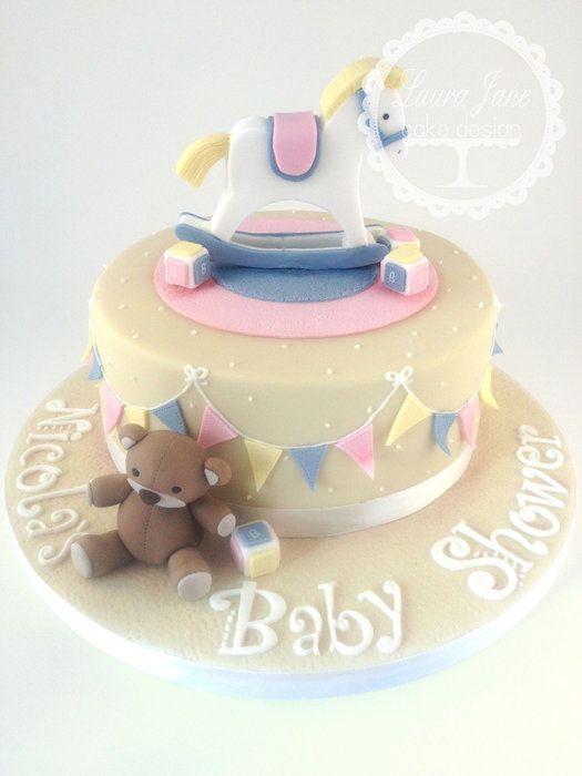 Rocking Horse Cake Design : Rocking Horse Baby Shower - by LauraJaneCakeDesign ...