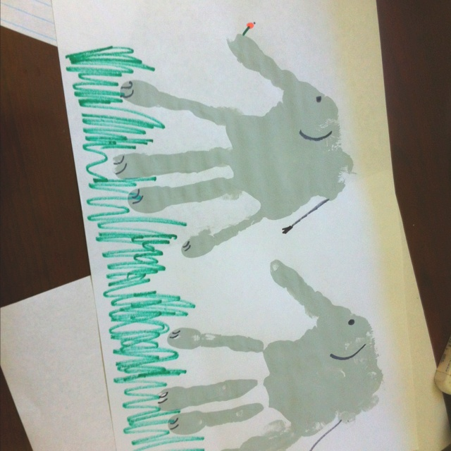 Horton hears a who elephant hand print craft