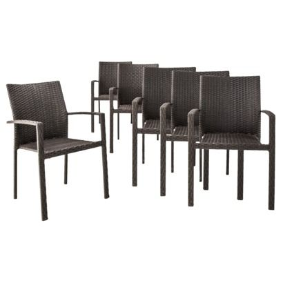 Threshold Afton 6 Piece Stacking Wicker Chair Set TARGET 6 X 235