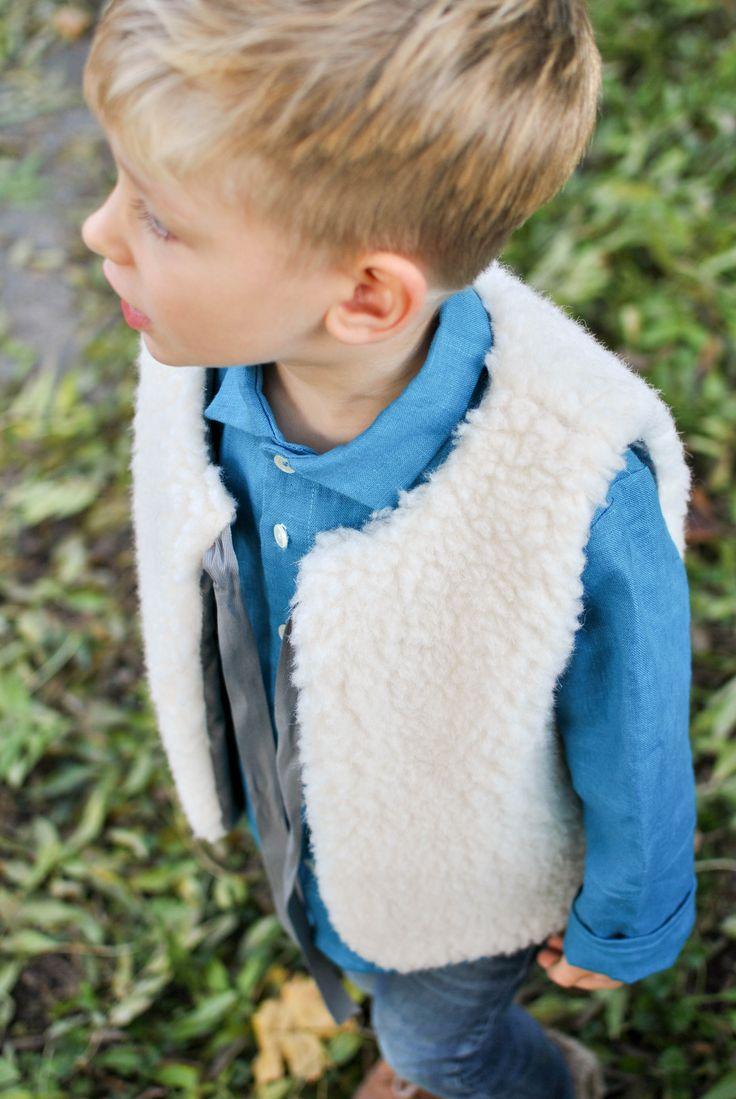 Linen shirt & merino vest