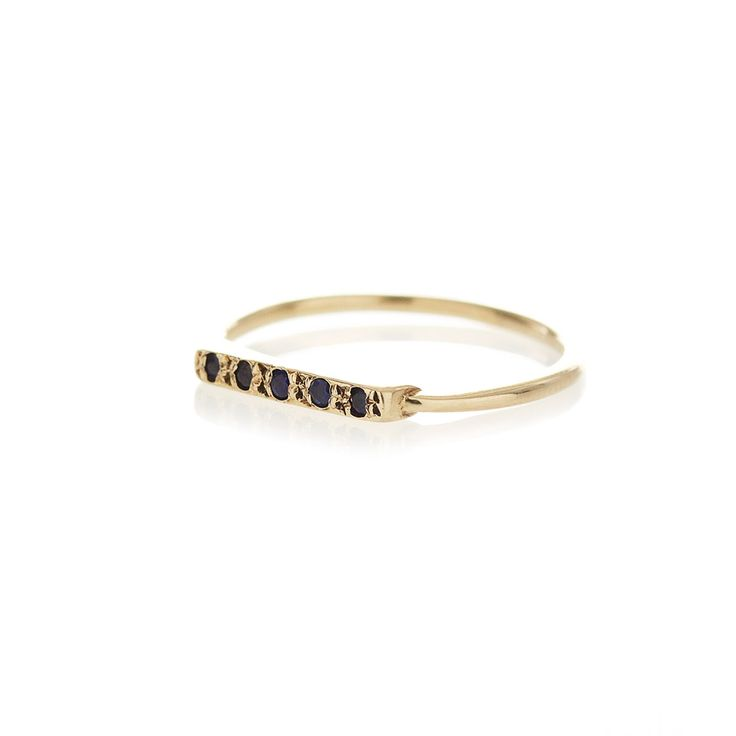 Sapphire gold bar ring | Dear Rae | Online Shop