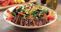 Grilled Steak Salad - marinated skirt steak, roasted potatoes, mixed ...