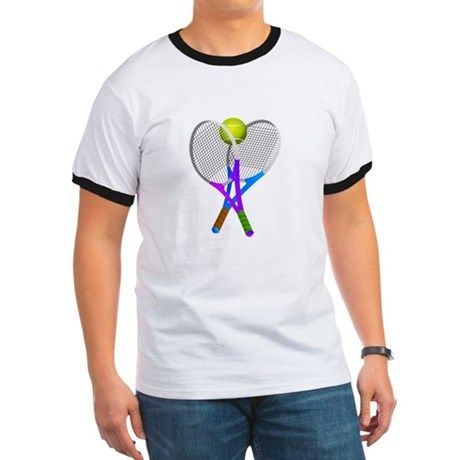 Tennis Rackets and Ball  T-Shirt by #Gravityx9 Designs  at CafePress - #Sports4you - Available in several colors, styles and size options.