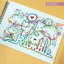Image result for doodle art names colored