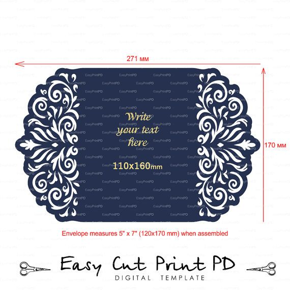 Wedding Stationery invitation Pattern Card Templates SVGfiles