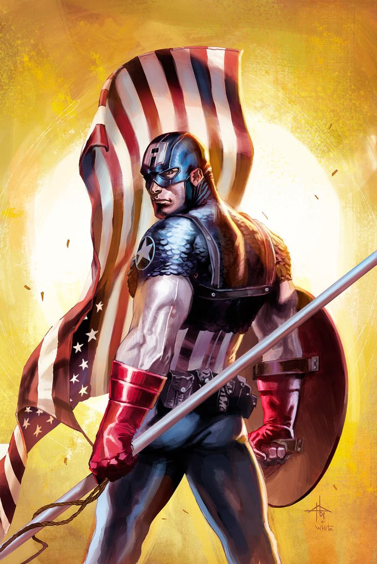 Captain America by Gabriele Dell'Otto