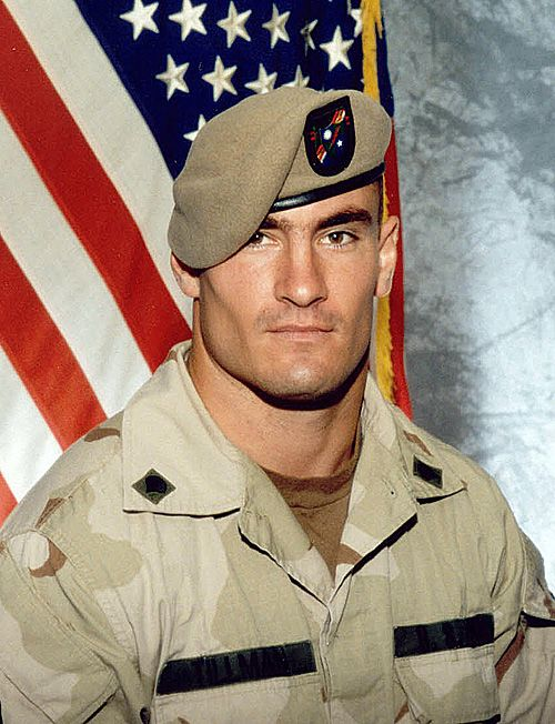 """Patrick D. """"Pat"""" Tillman (11/06/1976–04/22/2004) an American football player; left his professional career; enlisted in the US Army June 2002 after September 11. 2001. Joined the Army Rangers and served several tours in combat before he died in the mountains of Afghanistan. The Army first reported that Tillman had been killed by enemy fire, and then Lt. General Stanley A. McChrystal approved the award of a Silver Star. Actual cause of Tillman's death was ruled by The Pentagon as friendly…"""