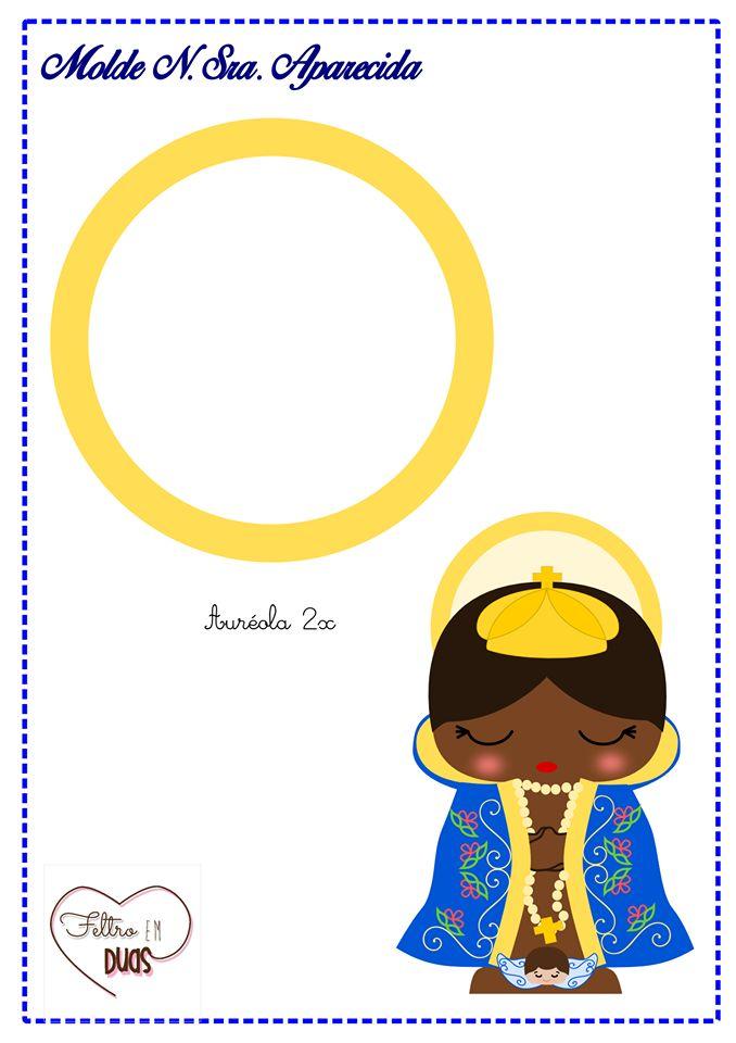 Moldes para Feltro: Nossa Senhora Aparecida