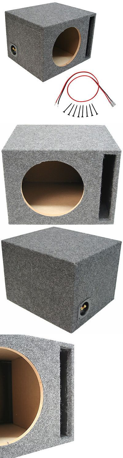 Speaker Sub Enclosures: Car Audio Single 15 Inch Vented Subwoofer Bass Speaker Sub Box 3/4 Mdf Enclosure -> BUY IT NOW ONLY: $60.95 on eBay!