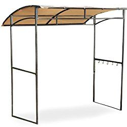 Garden Winds Curved Grill Shelter Gazebo Replacement Canopy – Riplock 350