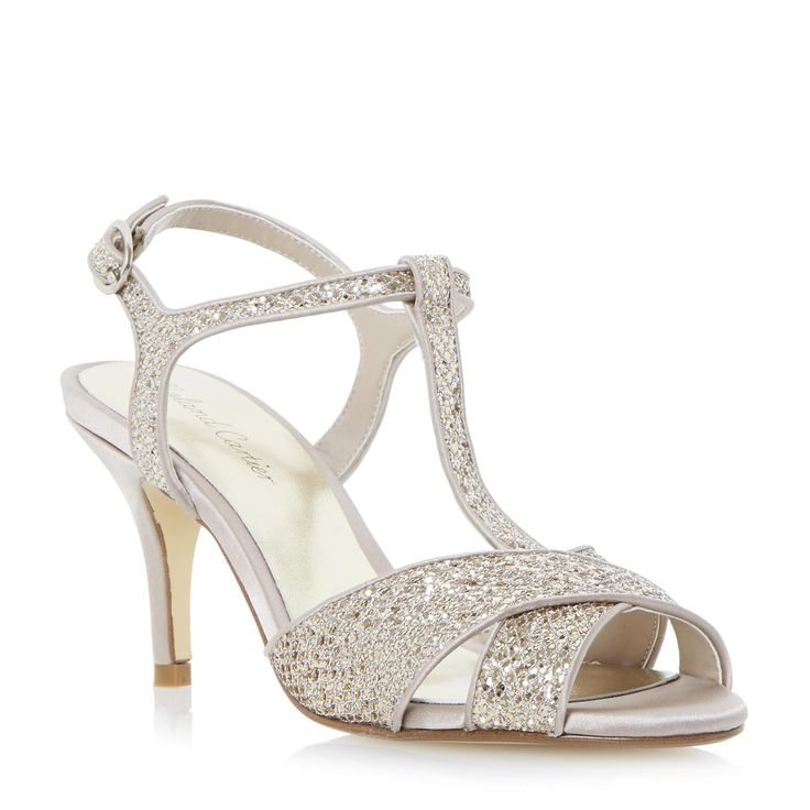 Roland Cartier Ladies MALISCO - Glitter Cross Strap Heeled Sandal - gold | Dune Shoes Online