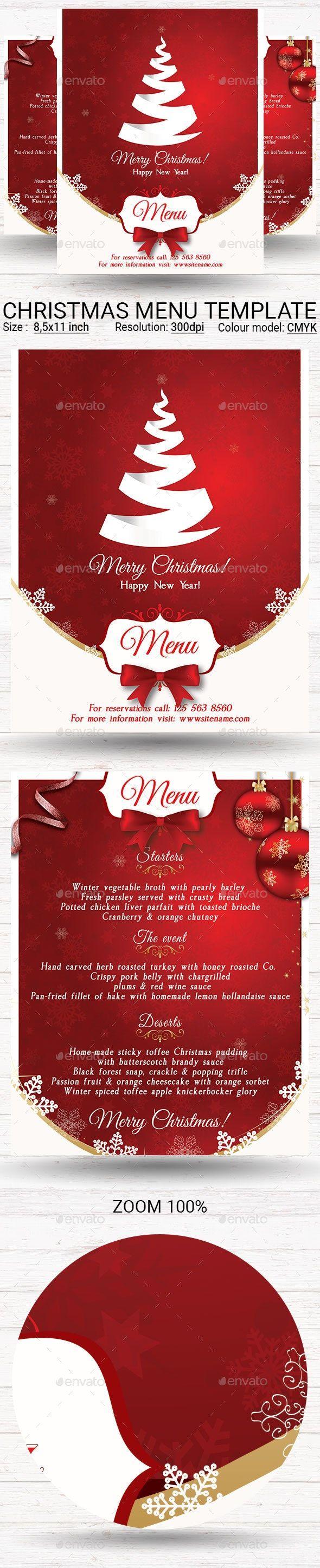 Christmas Menu Christmas Menu Menu Template Restaurant Flyer