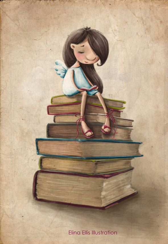Elina Ellis Illustration: Book Fairy                                                                                                                                                      Más
