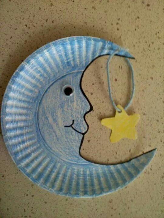 Luna con plato carton