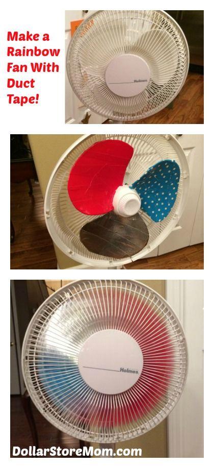 duct tape crafting - making a rainbow fan please follow us @ http://www.pinterest.com/ducktapesale/