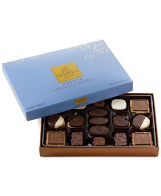 Godiva Chocolatier, 36-Pc. Assorted Biscuit Gift Box of Chocolates | macys.com