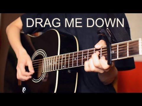 One Direction - Drag Me Down (Guitar Cover) #acoustic #music #youtube #epiphone #black #hands #tshirt #camera #nikon #man #playing #pop #instrument #video #chords #picks #strings #guitarist