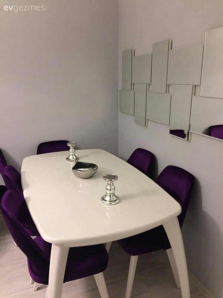 Ayna, Mor, Salon, Yemek Odası