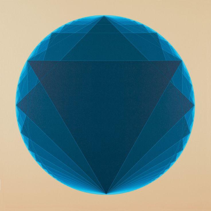 "@AJSmithArt http://smithon.ca/shop #PolygonumProgredi ""Blue Sharp Progressive Polygons"" (pair with orange) #SMITHONDay #SMITHONDay2015 #IGArtists #ART #Artist #Canada 36"" x 36"" #Digital #Pigment #Print on #Canvas #GeometricArt #Artwork - Andrew James Smith"