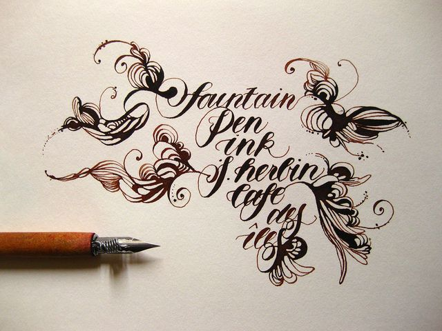 544 Best Images About Calligraphy On Pinterest Fonts