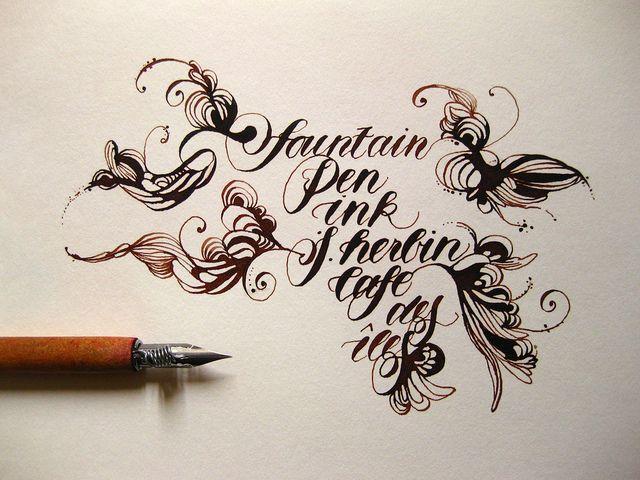 Written with a brause rose nib j herbin caf� des �les