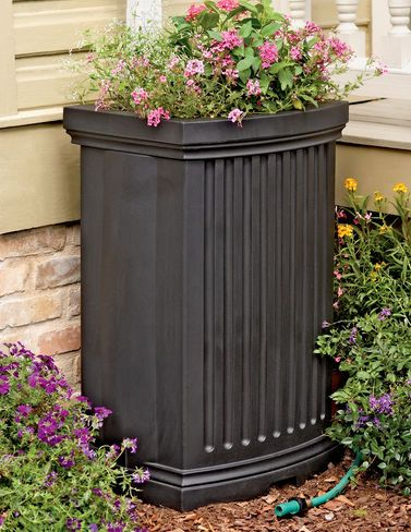 Rain water barrels are an eco-friendly solution for watering plants. From wooden rain barrels to plastic - rain barrels for sale plus accessories.