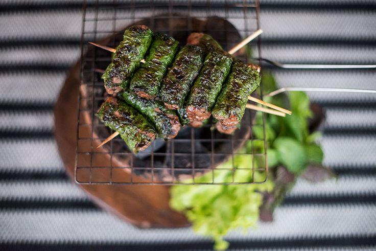 Beef in betel leaf