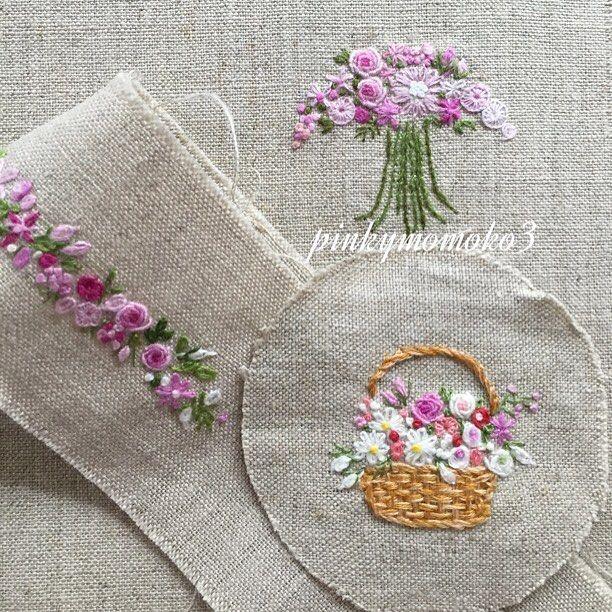 . . 花刺繍。。。 .