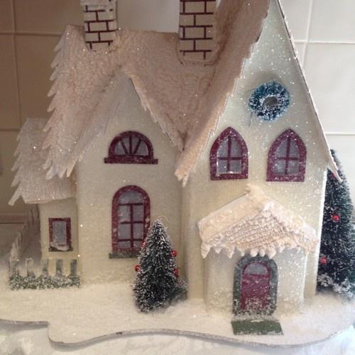 225 best Glitter Houses images on Pinterest | Christmas villages ...